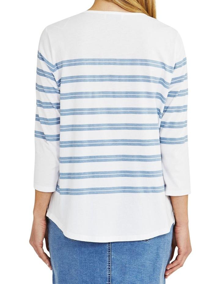 Stripe Sequin Tee White image 2