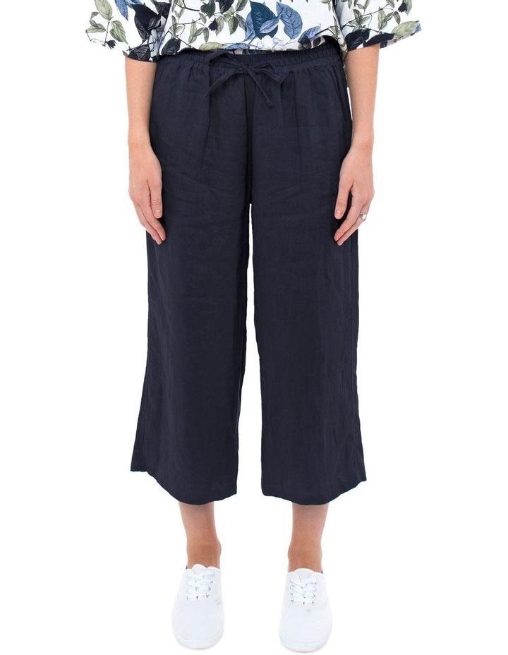 7/8 Wide Leg Linen Pant image 1