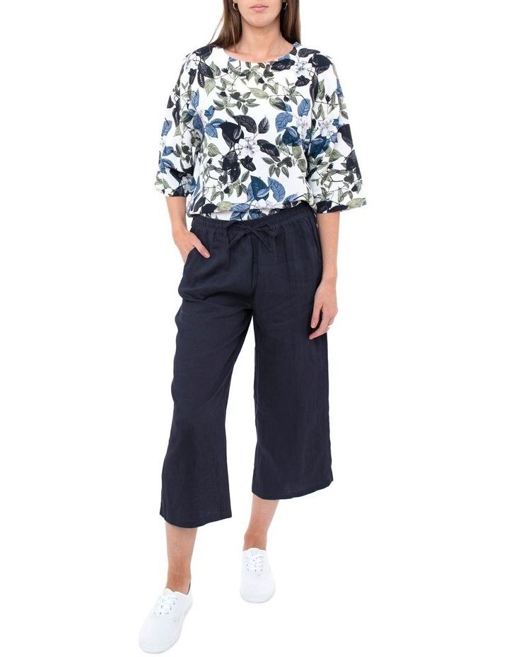 7/8 Wide Leg Linen Pant image 2