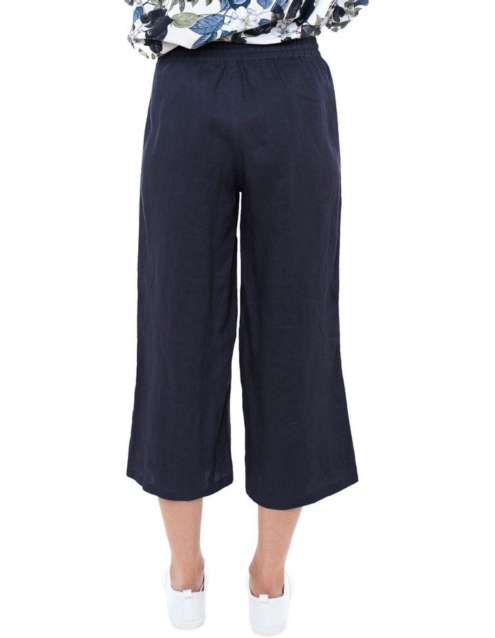 7/8 Wide Leg Linen Pant image 3