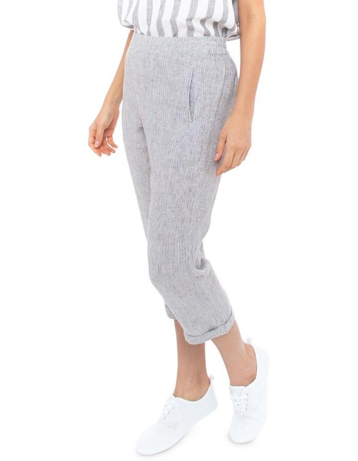 3/4 Stripe Linen Pant image 2