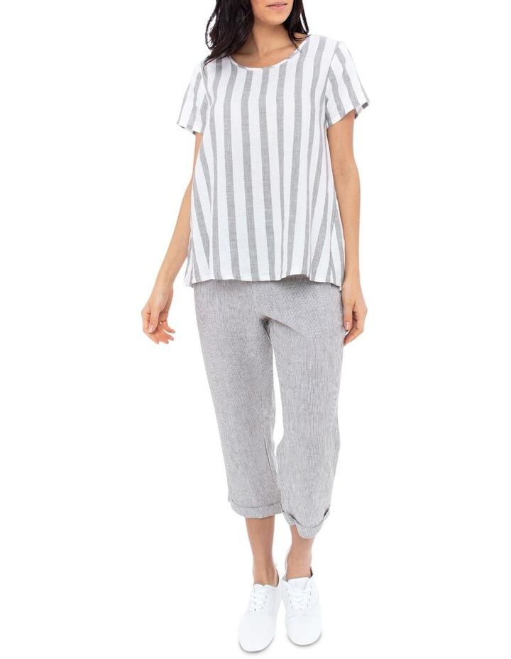 3/4 Stripe Linen Pant image 3