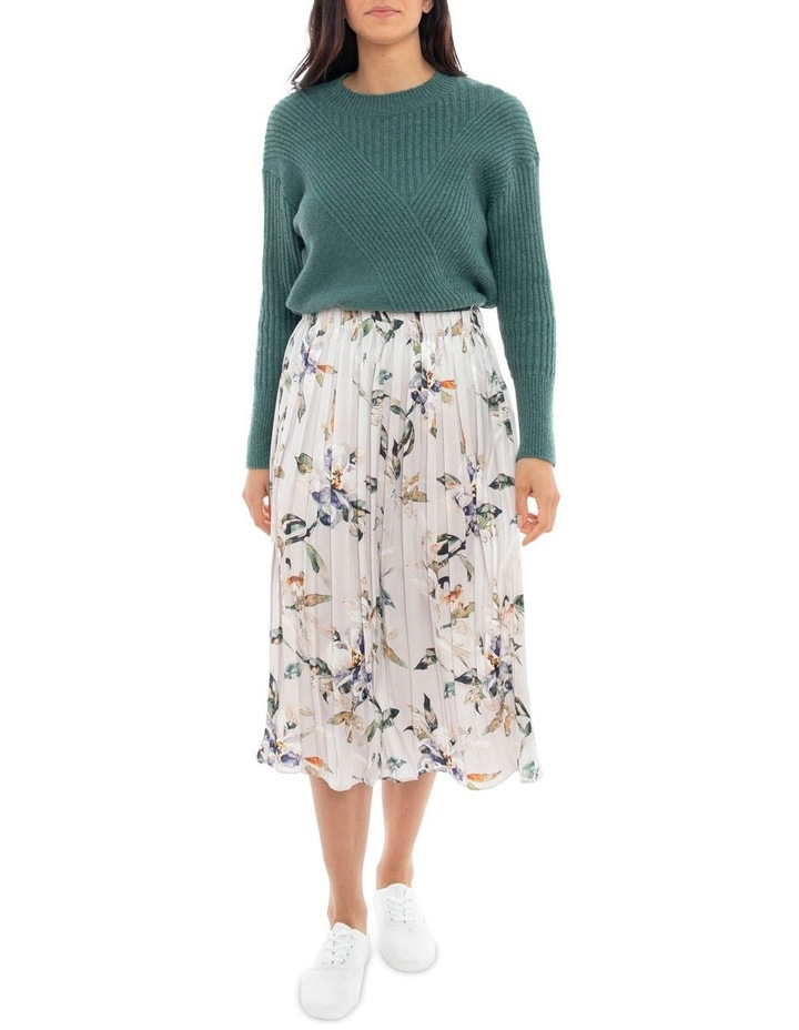 Watercolour Pleated Skirt image 1