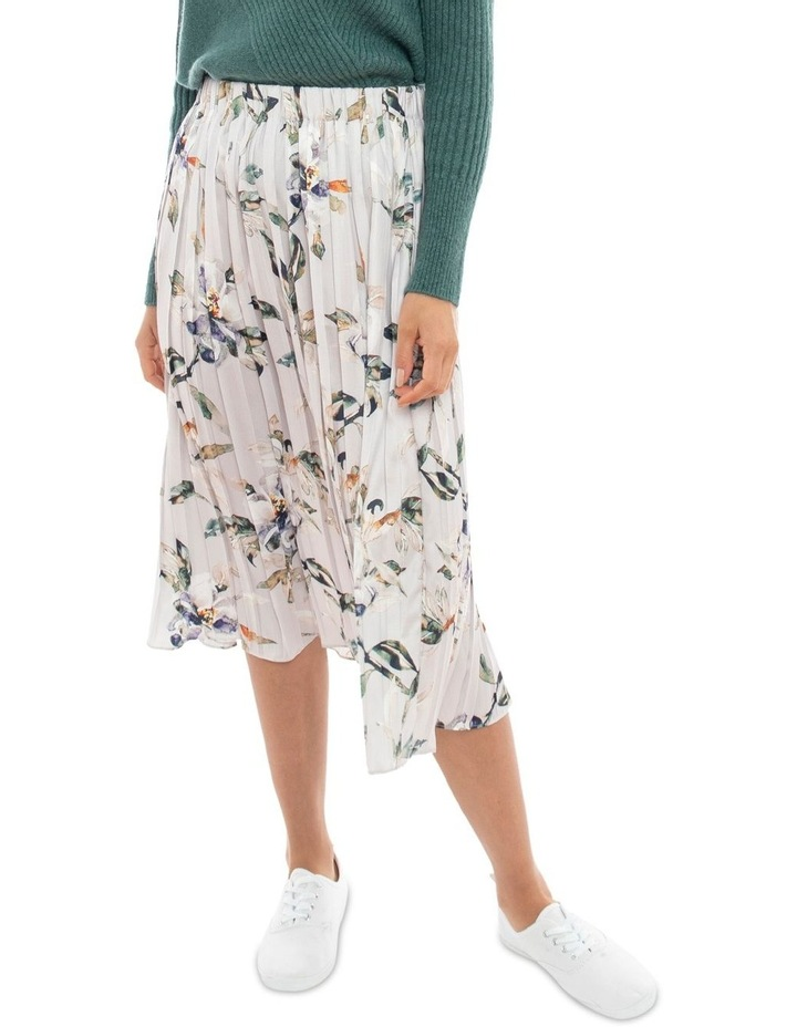 Watercolour Pleated Skirt image 2