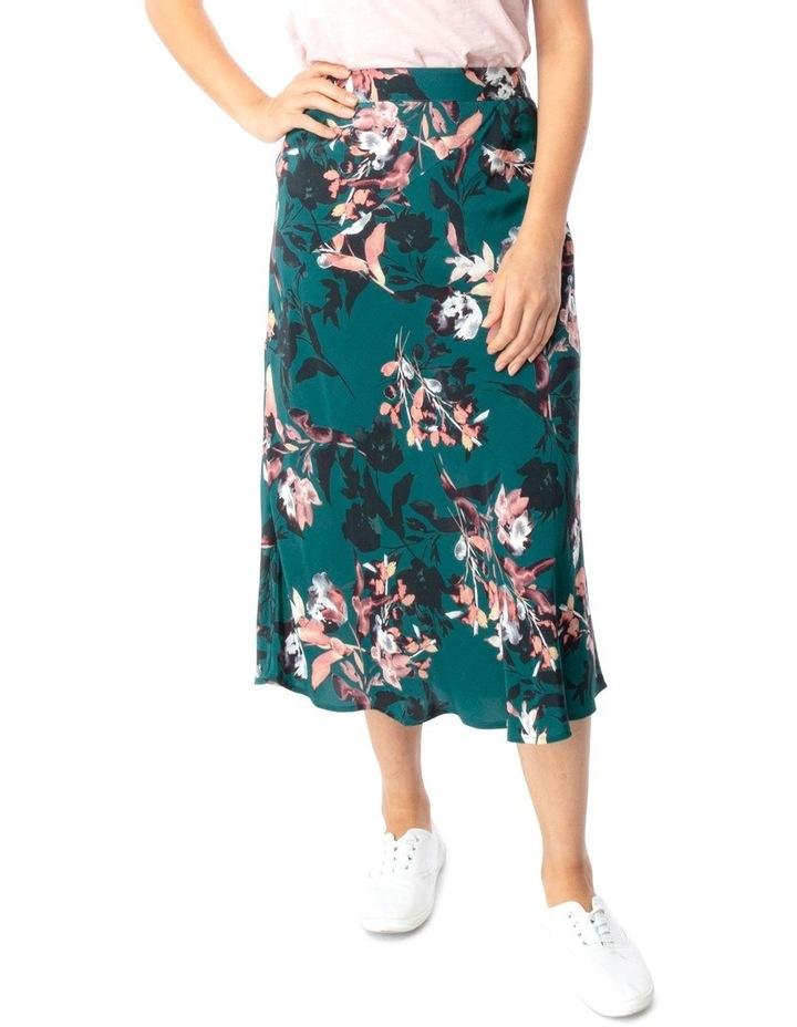 Winter Leaf Print Skirt image 1