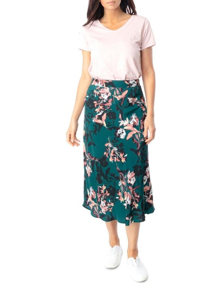 Winter Leaf Print Skirt image 2