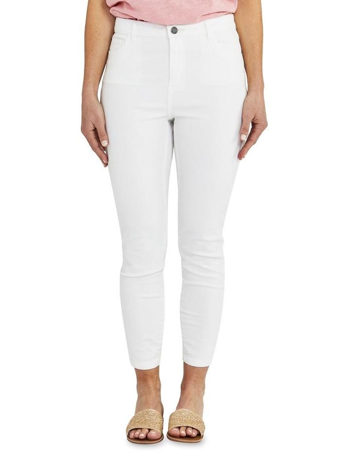 Side Split White Slim Fit Jean image 1