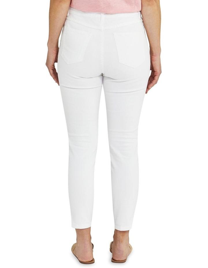 Side Split White Slim Fit Jean image 2