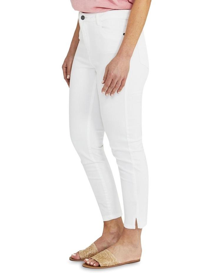 Side Split White Slim Fit Jean image 3