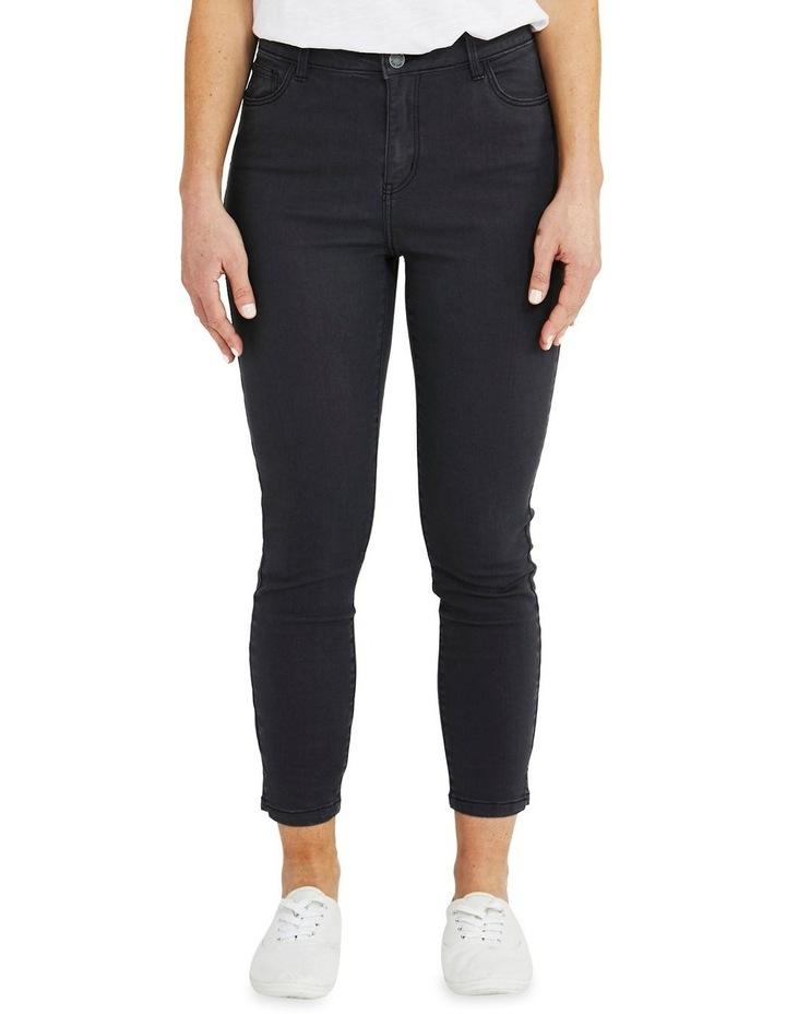 Side Split Charcoal Slim Fit Jean image 1