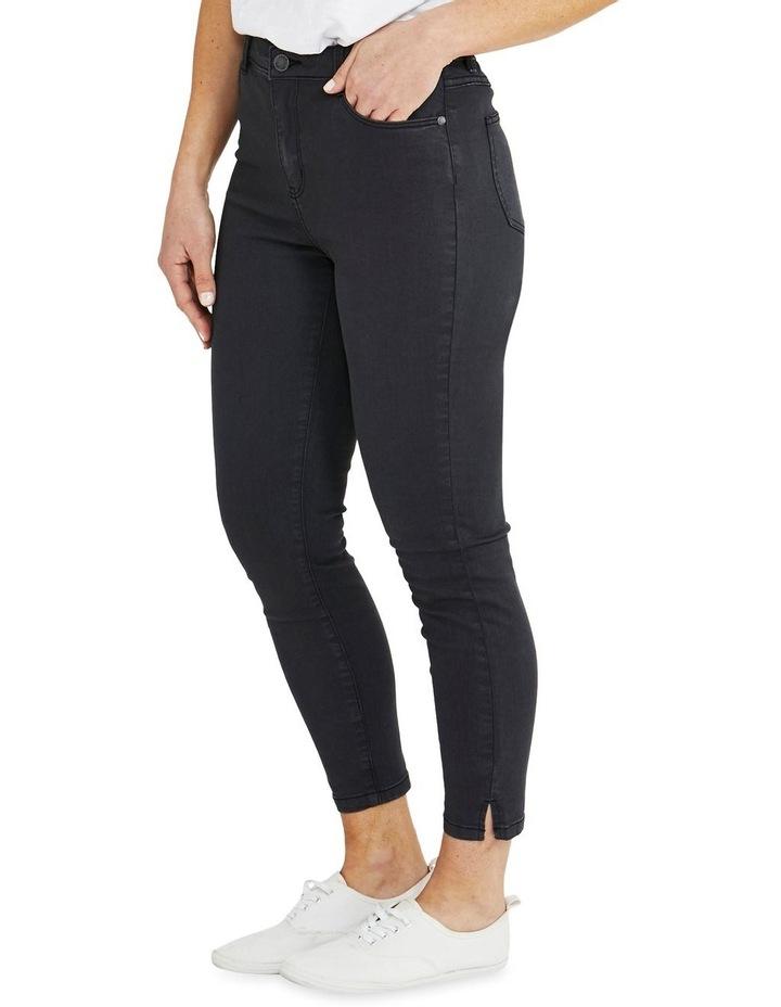 Side Split Charcoal Slim Fit Jean image 3