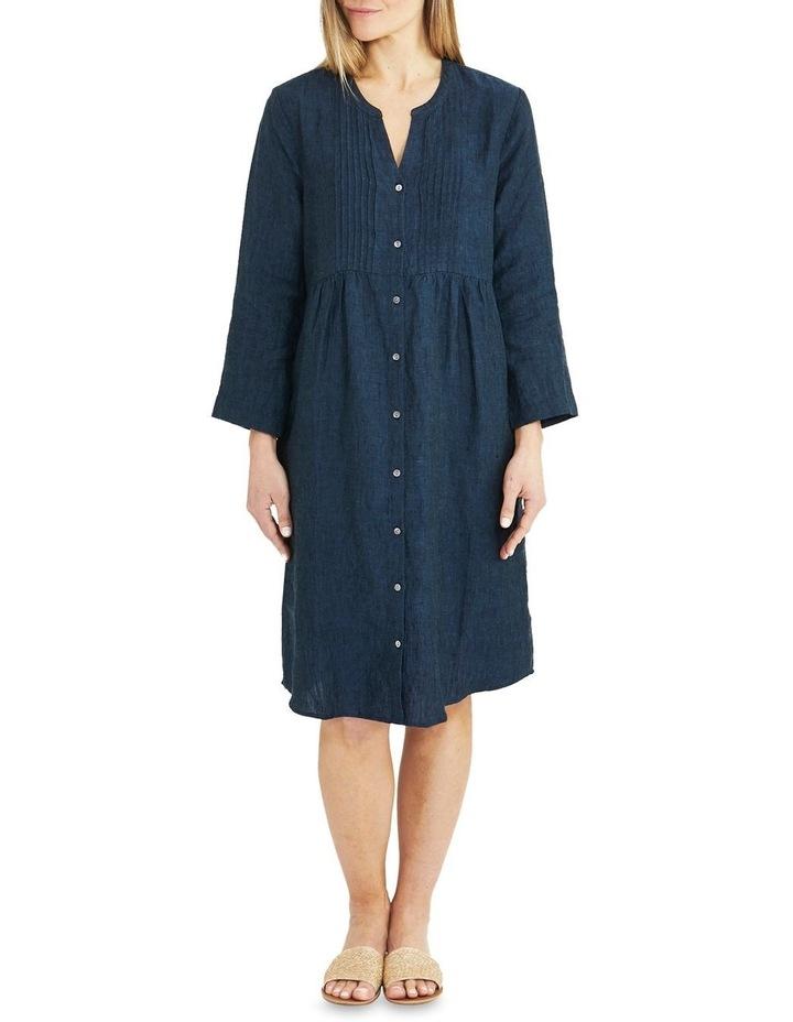 Pintuck Linen Dress image 1