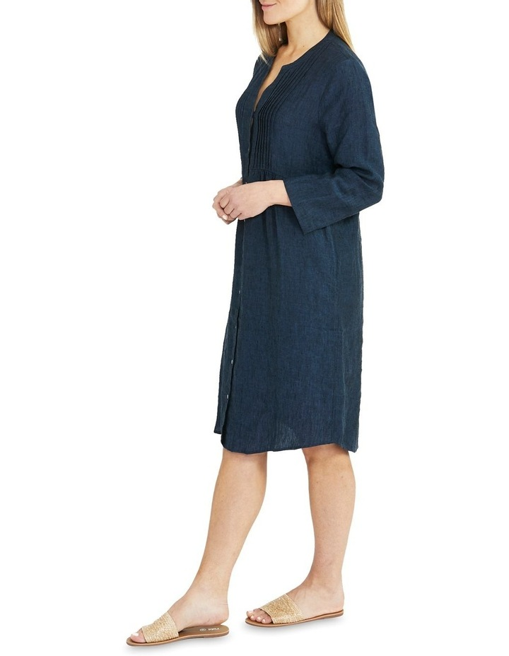 Pintuck Linen Dress image 3