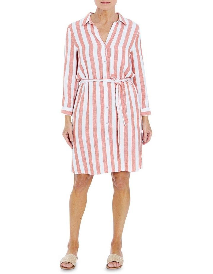 Stripe Button Through Dress image 1