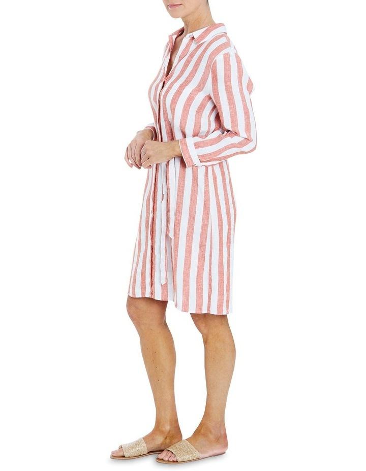 Stripe Button Through Dress image 3
