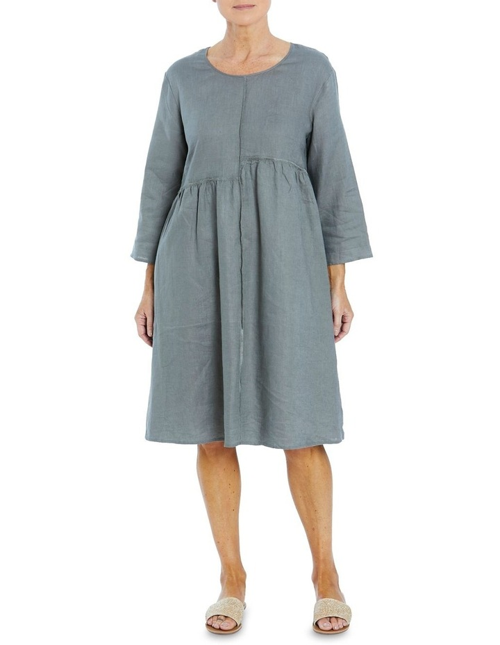 Seam Detail Dress Khaki image 1