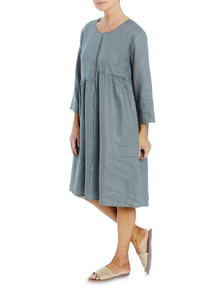 Seam Detail Dress Khaki image 3