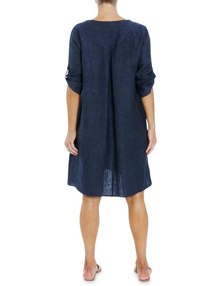 V-Neck Linen Dress image 2