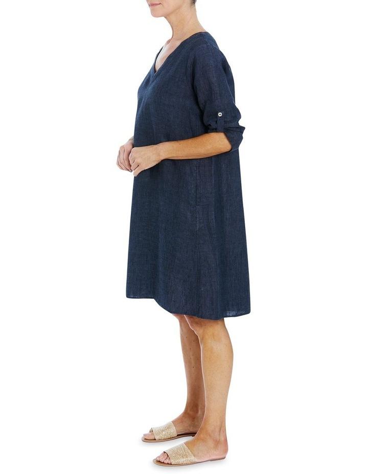 V-Neck Linen Dress image 3