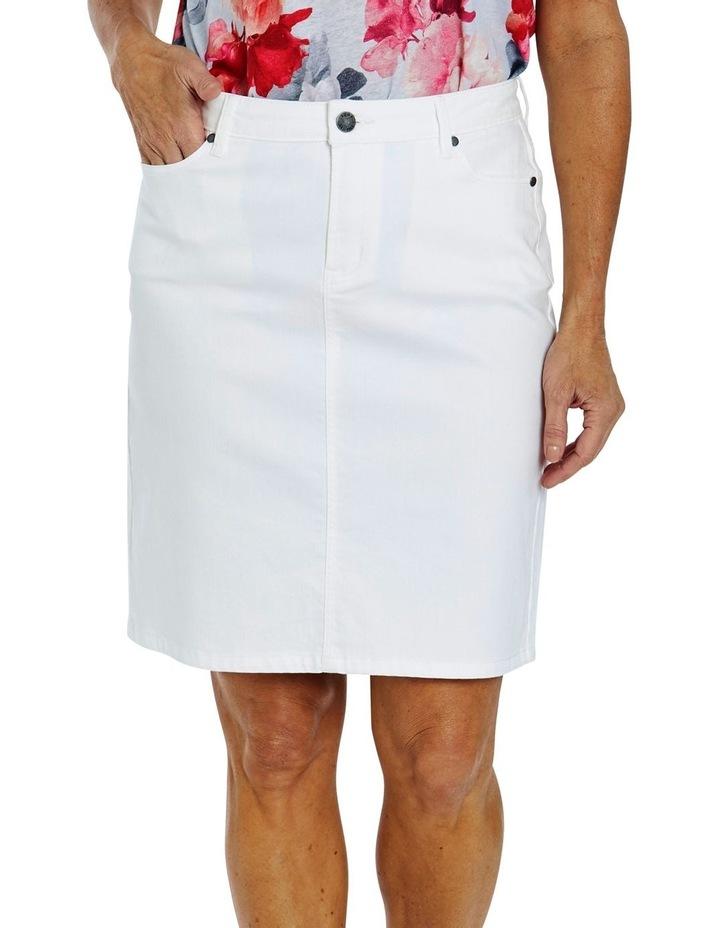 Denim Skirt White image 1