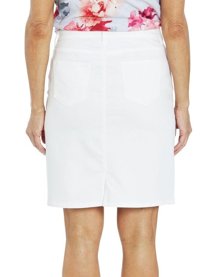 Denim Skirt White image 2