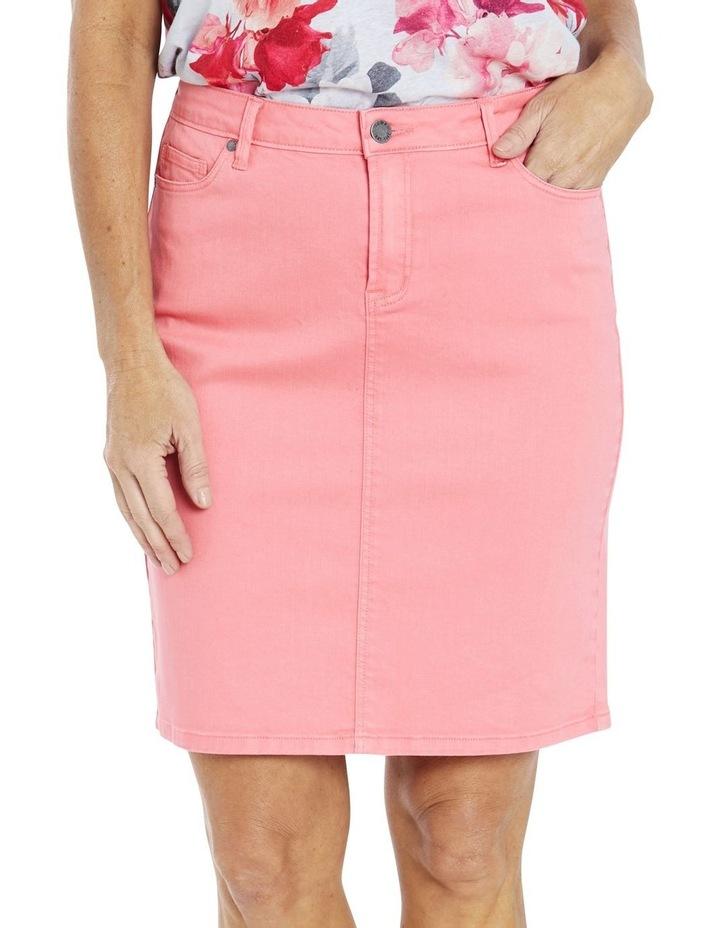 Denim Skirt Coral image 1