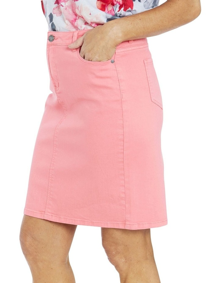 Denim Skirt Coral image 3