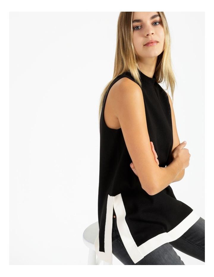 Colourblocked Sleeveless Mockneck Tunic image 5