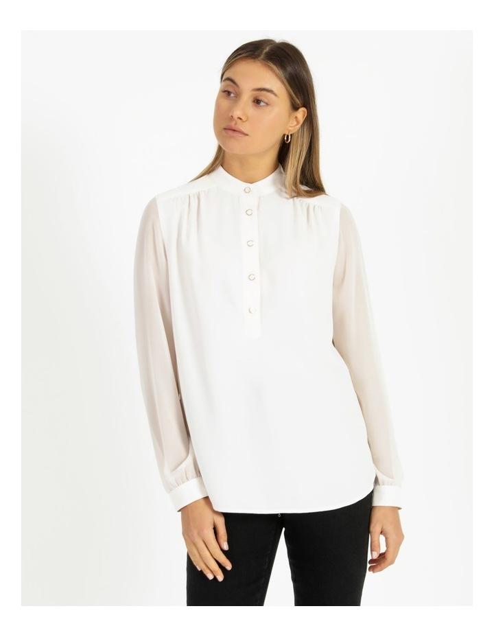 High-Low Chiffon Sleeve Blouse image 1