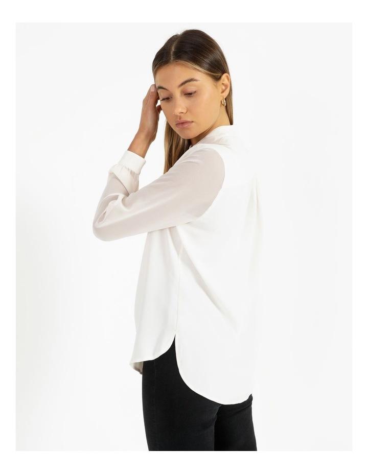 High-Low Chiffon Sleeve Blouse image 3
