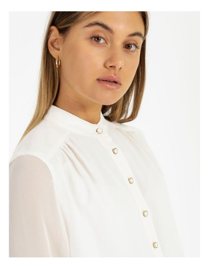 High-Low Chiffon Sleeve Blouse image 4