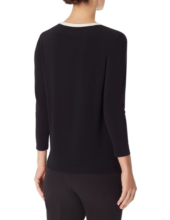 Colorblocked 3/4 Sleeve Knit Tunic Blouse image 2
