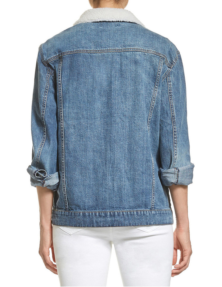 Carly Denim Shearling Jacket image 3