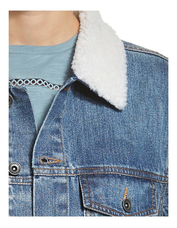 Carly Denim Shearling Jacket image 4