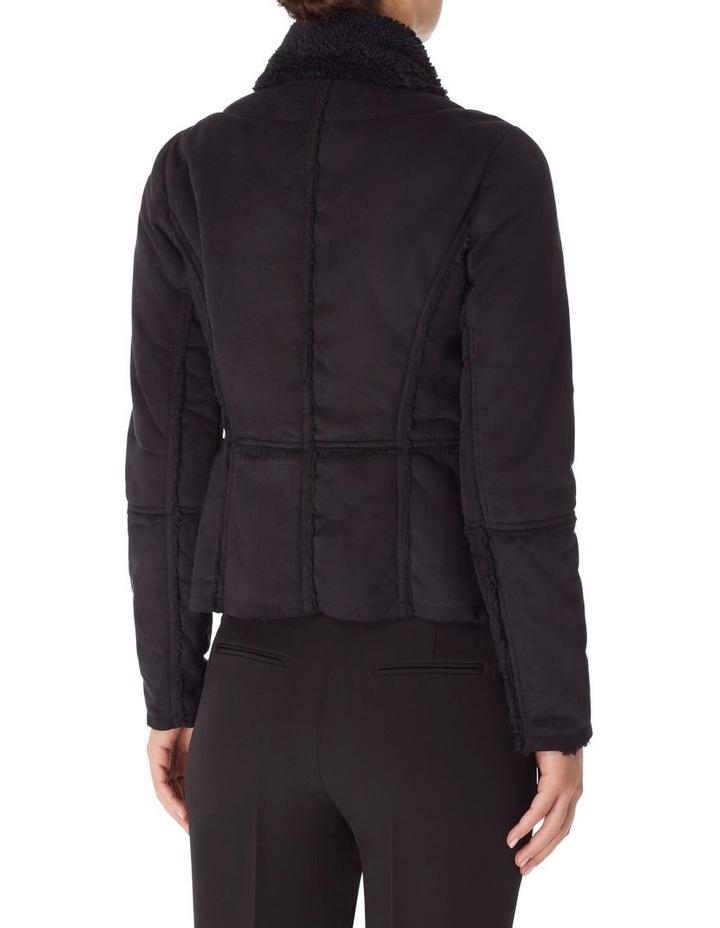 Faux Shearling Drape Front Jacket image 2