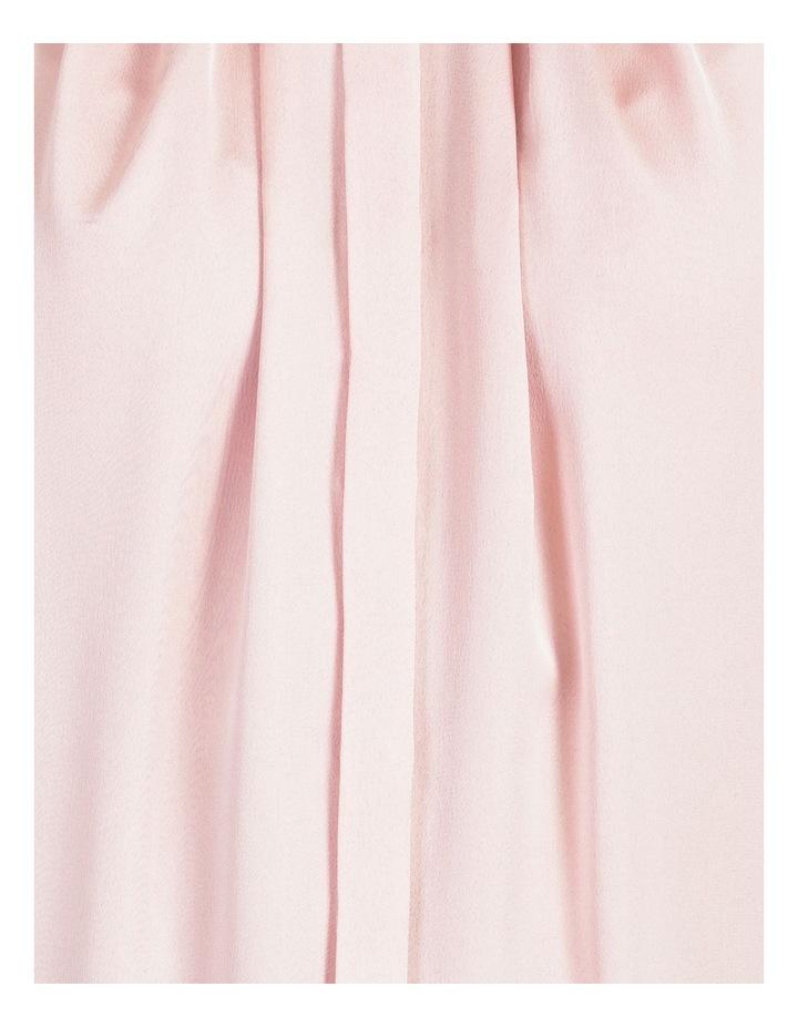 Satin Sleeveless Mandarin Collar Front Pleat Neck Blouse image 5