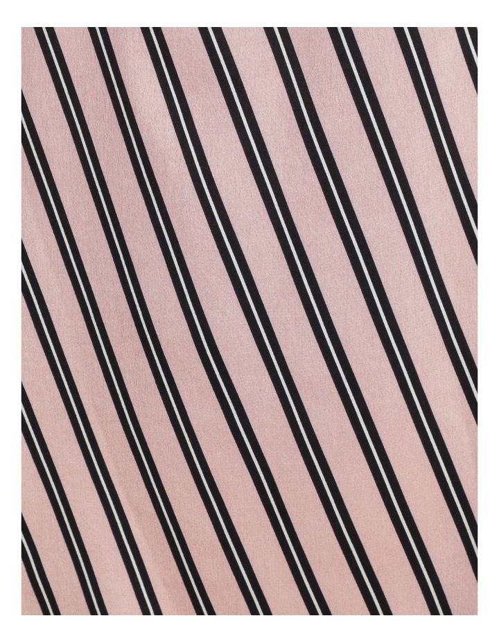 Double Bias Stripe Split Neck High-Low Blouse image 6
