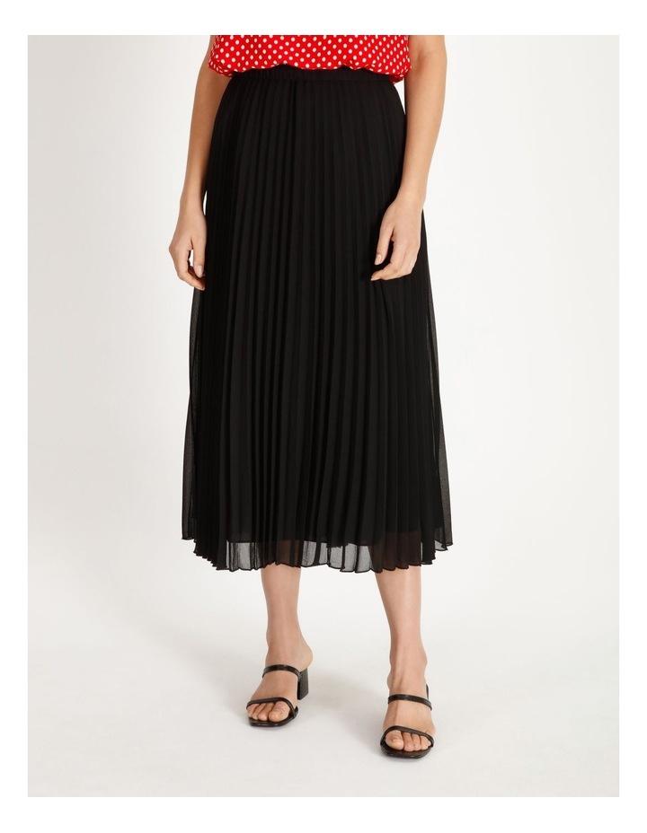 Sunburst Anne Black Pleated Maxi Skirt image 1