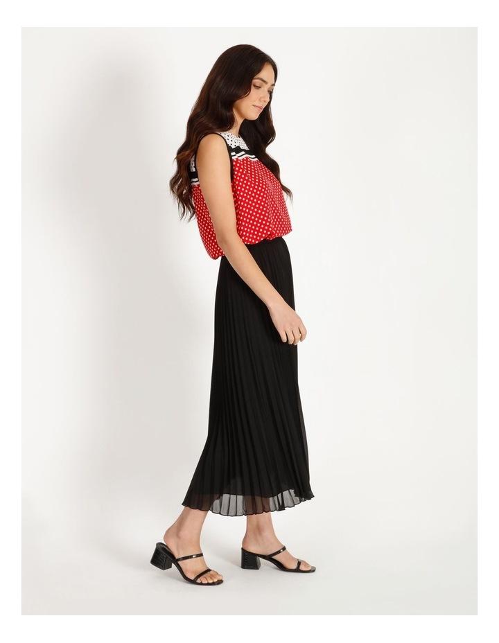 Sunburst Anne Black Pleated Maxi Skirt image 2