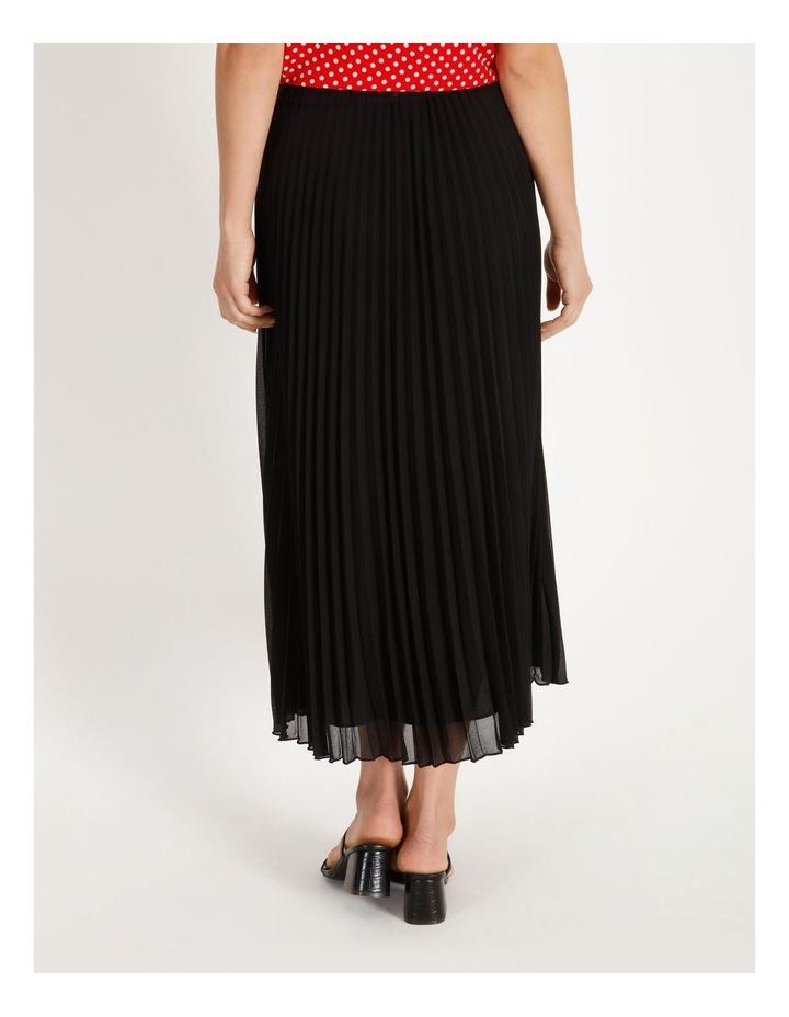 Sunburst Anne Black Pleated Maxi Skirt image 3