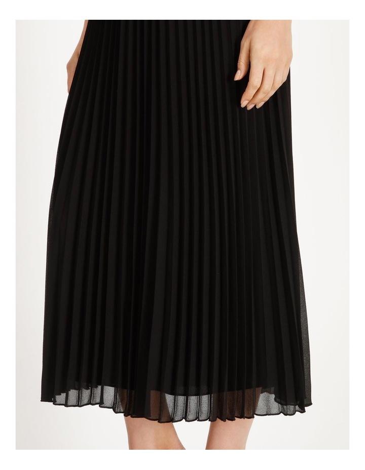 Sunburst Anne Black Pleated Maxi Skirt image 4