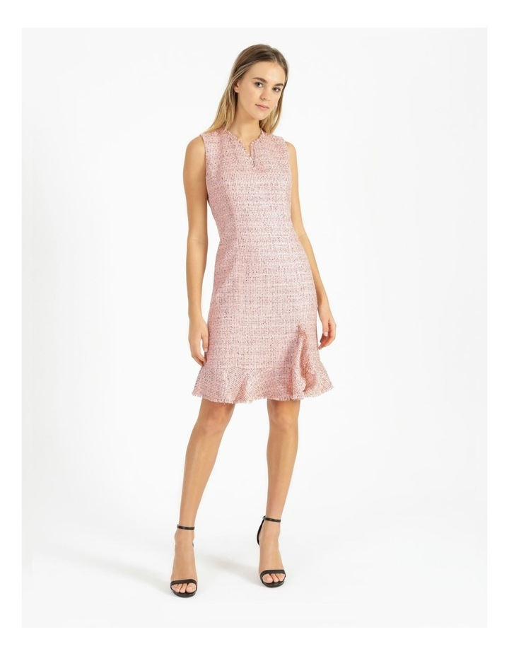 Tweed Ruffle Hem Sheath Dress image 1