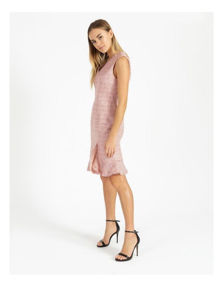 Tweed Ruffle Hem Sheath Dress image 2