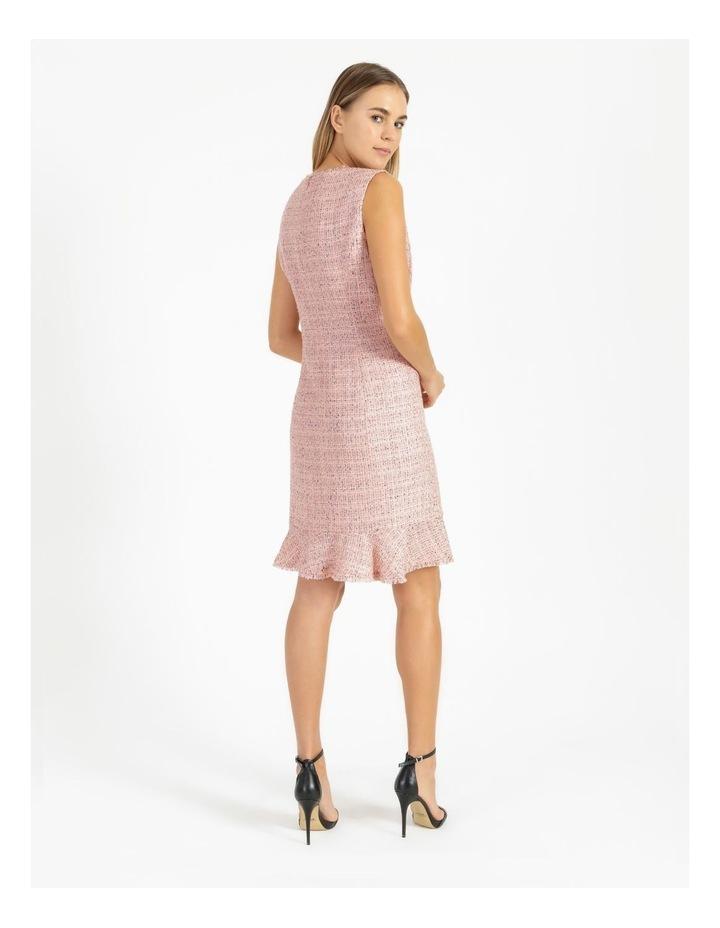 Tweed Ruffle Hem Sheath Dress image 3