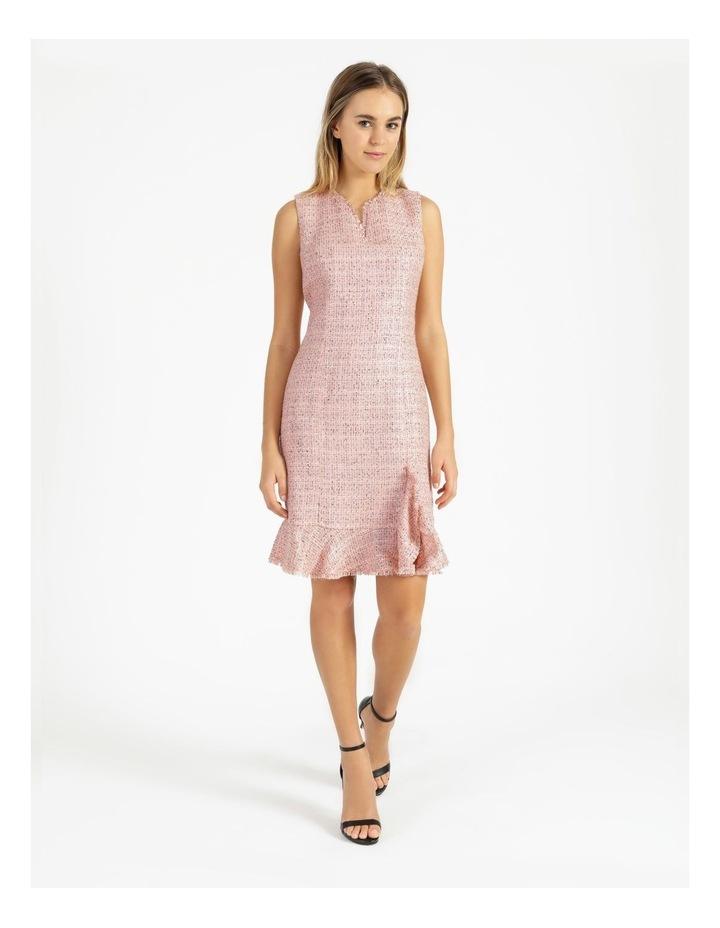 Tweed Ruffle Hem Sheath Dress image 4