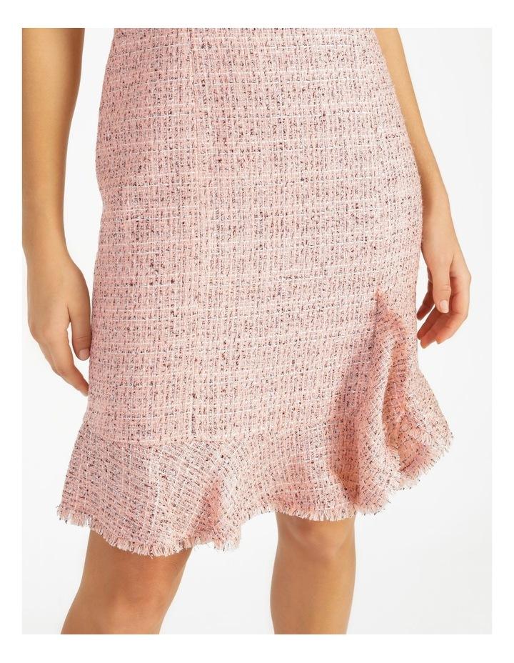 Tweed Ruffle Hem Sheath Dress image 6