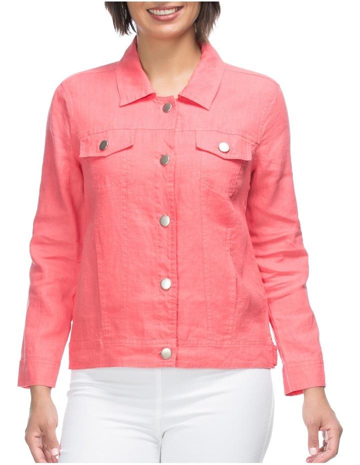 Long Sleeve Linen Jacket image 1