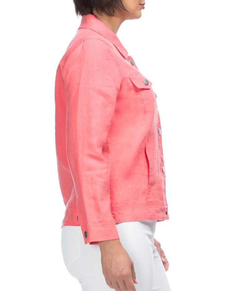Long Sleeve Linen Jacket image 3