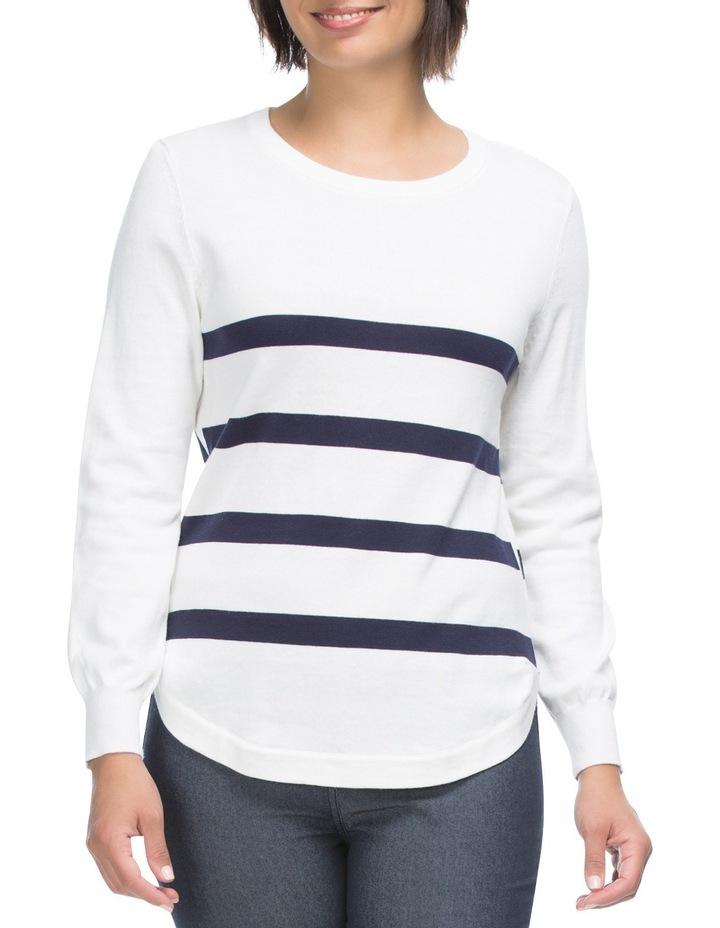 Long Sleeve Stripe Detail Jumper image 1