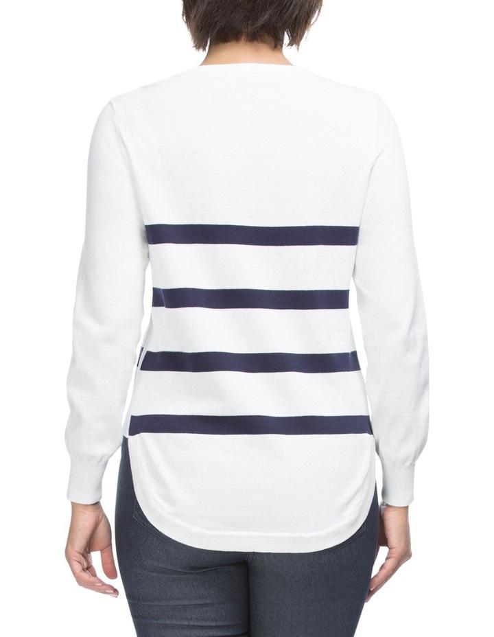 Long Sleeve Stripe Detail Jumper image 2